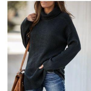 ESSEX DR. Ribbed Knit Turtleneck Sweater